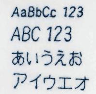 日本語文字縫い